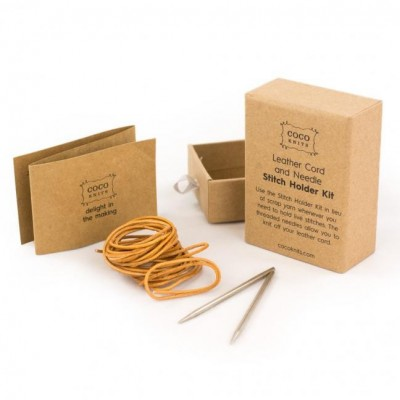 CocoKnits - Stitch Holder Kit, Leather Cord and Needles